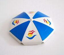 PLAYMOBIL (V158) LOISIRS - Parasol Bleu à Motifs Piscine 3205