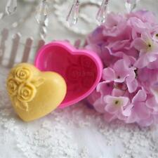 Safe Silicone Romantic Rose Heart Shape Chocolate Ice Chocolate Soap Mold Mould
