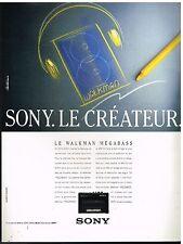 Publicité Advertising 1988 Le Baladeur Walkman Sony
