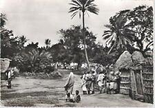 Afgoi / Afgooye, Somalia - general scene, huts - real photo postcard c.1950s