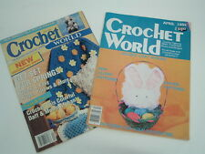 Two vintage issues of Crochet world magazine April 1992 and April 1984