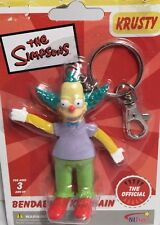 New Adorable THE SIMPSONS KRUSTY THE CLOWN BENDABLE KEYCHAIN