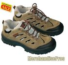 MEN'S BLUFF CREEK LEATHER TRAIL HIKING SHOES 11D & STARTER CREW SOCKS BUNDLE NEW