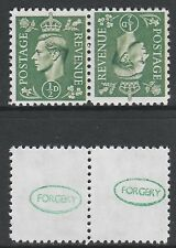 Great Britain (896) 1941 KG6 1/2d tete-beche pair - a Maryland FORGERY unused