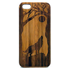 Wolf Case for iPhone 6 Plus iPhone 6S Plus Bamboo Wood Cover Howling Full Moon