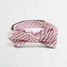 J Crew Factory - NWT - Patriotic Chambray Striped Adjustable :Linen Bow Tie