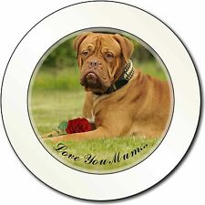 Dog+Red Rose 'Love You Mum' Car/Van Permit Holder/Tax Disc Gift, AD-DB2RlymT