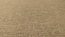 "VINTAGE LINEN BEIGE CANVAS TWEED FABRIC 56""WIDE SEAT UPHOLSTERY CHURCH PEW"
