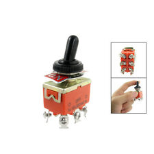 New 15A/250VAC on/off/on 3 Position DPDT Toggle Switch with Waterproof Boot LW