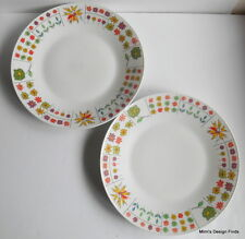 """2 Rosenthal Pucci Piemonte Dinner Plates 10 3/8"""" Vintage Mid Century Germany GUC"""