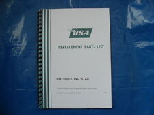 BSA B44SS SHOOTING STAR PARTS BOOK FOR 1970 MODELS