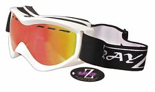 2017 RAYZOR SKI SNOWBOARD GOGGLES UV400 RED VENTED ANTI FOG DOUBLE LENS RRP£69