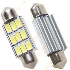 "2 x Car Dome 5630 SMD 9 LED Bulb Light Interior Festoon 42MM 1.72"" Pure White"