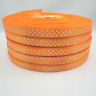 New hot 5 Yards Charm 3/8 9mm Polka Dot Ribbon Satin Craft Supplies Orange