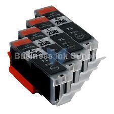 4 PIGMENT BLACK Canon PGI-250XL Compatible Ink Cartridge PGI-250 PGI-250XL BK
