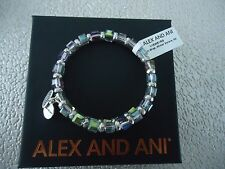 Alex and Ani WINTER SOLACE WISH Rafaelian Silver Bangle New W/ Tag Card & Box