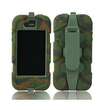 4 IN 1 Camo Heavy Duty Tough Impact Camouflage Case For iphone 4 4S + Belt Clip