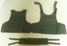 New Armour Plate Carrier Vest-Camel Green-Size Medium-Made in USA