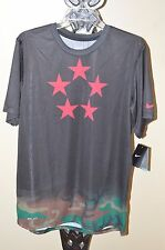 Nike Black Dri-Fit Men's Field Generals Five Star Camo T Shirt Size Medium