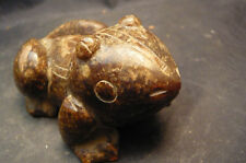 Chinese Antique Jade Fortune God Money Toad Frog Vividly Carving Totem