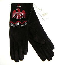Vivienne Westwood Leather Gloves Suede Black Auth New JPN Limited Rare !