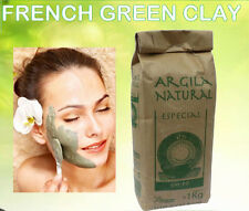 Pure Organic French Green Clay Powder 1 Kg - 35.2oz face mask skin cheapest ebay