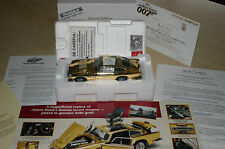 DANBURY MINT ASTON MARTIN JAMES BOND GOLD DB5 WITH ORIGINAL BOX & CERTIFICATE
