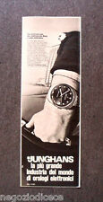 [GCG]  O032 - Advertising Pubblicità - 1969 - JUNGHANS , THE ELECTRONIC MAN