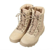 Men Army Tactical Comfort Leather Combat Military Ankle Boots Work Desert Shoes