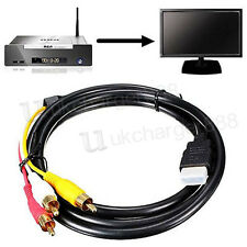 3 in1 1.5M HDMI Male to 3 RCA Audio Video AV Component Adapter Cable Lead HDTV