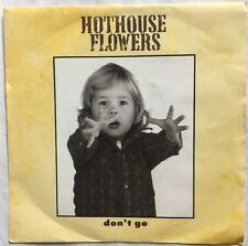 "Hothouse Flowers - Don't Go - London Records Picture 7"" Sleeve Single LON174 EX"