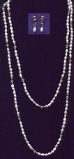 "2 FWP-Semi-precious stone necklaces (18"" & 24"") & 1 pair Matching Earrings (A)"