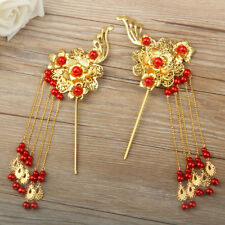 1Pair Chinese Classical Women Hairpin Hair Step Shake Alloy Bride Accessories