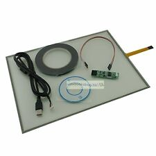 "15"" USB Touch Screen Kit DIY Smart Panel Resistive Monitor For Dell 510 Fitting"