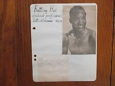 BATTLING HAI   Algerian Lightweight Boxer('45-'47)  Signed 6 1/2 X 8  Album Page