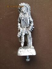 sioux indian chief, sitting bull,motorcycle, ratrod,rare car hood ornament