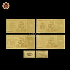 WR Zimbabwe 10/20/50/100 Trillion Dollars Gold Banknote Paper Money Business Set