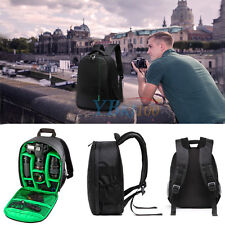 Black Durable Waterproof DSLR Backpack Case Bag For Canon Nikon Sony Camera Lens