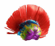 Unisex Mohawk Hair Wig Mohican Punk Rock Fancy Dress Cosplay Party Costume 80's