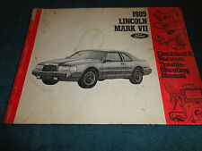1989 LINCOLN MARK VII WIRING / VACUUM SHOP MANUAL / ORIGINAL BOOK