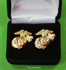 Marine Corps EGA Cufflinks in Gift Box -  USMC Eagle, Globe, and Anchor