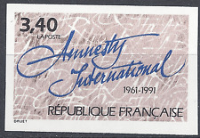 AMNESTY INTERNATIONAL N°2728 TIMBRE NON DENTELÉ IMPERF 1991 - NEUF ** LUXE MNH