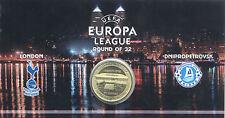 UKRAINE Encart FC Dnipro, 16ème de finale Europa Ligue 2014,  Monnaie de Paris