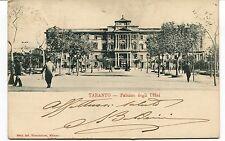 Primi '900 Taranto Palazzo degli Uffici dest. Livorno timbro FP B/N VG ANIM