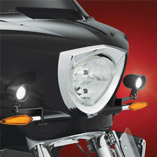 Black Mini LED Driving Light Kit For Victory Cross Country Tour & Magnum 2010-