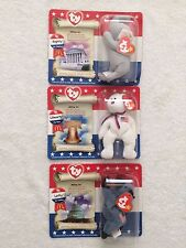 TY Beanie Teenie Babies! 2000 American Trio with Lefty, Righty and Libearty NEW!