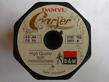 D A M Damyl coarser bulk spool monofilament brown 2lbs 0.9kg 2190 yds 2000m