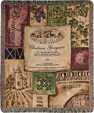 "OLD WORLD WINE Tapestry Throw Blanket, 50"" x 60"", by Manual Weavers"