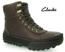 CLARKS Mens ** REEL FROST ** WARM LINING ** BROWN LEATHER **  UK 8 / true 8.5