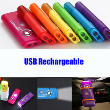 USB UV LED Charge  Flashlight  SOS Rechargeable Lamp Pocket Mini Torch